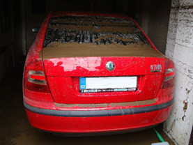 zatopené auto
